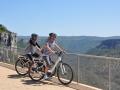 vélos électrique au belvédère de Blandas