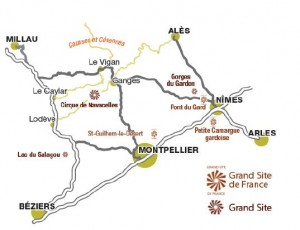 Plan routier Grand Site