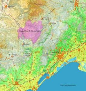 Situation géologique du Cirque de Navacelles