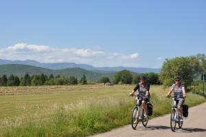 vélo elec sur les routes du causse de Blandas