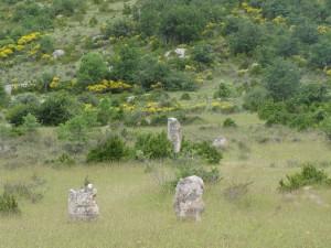 Le cromlech de Perrarines, à Blandas