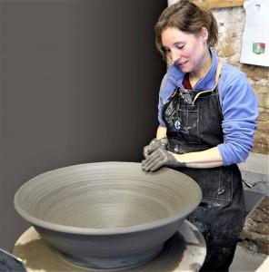 Ariane Coissieux, céramiste, à Campestre